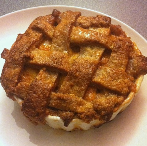 Mini Peach Pie For Two (Or One)