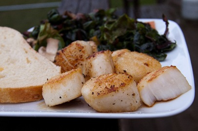 Pan Seared Scallops with Sauteed Chard & Mushrooms - A ...