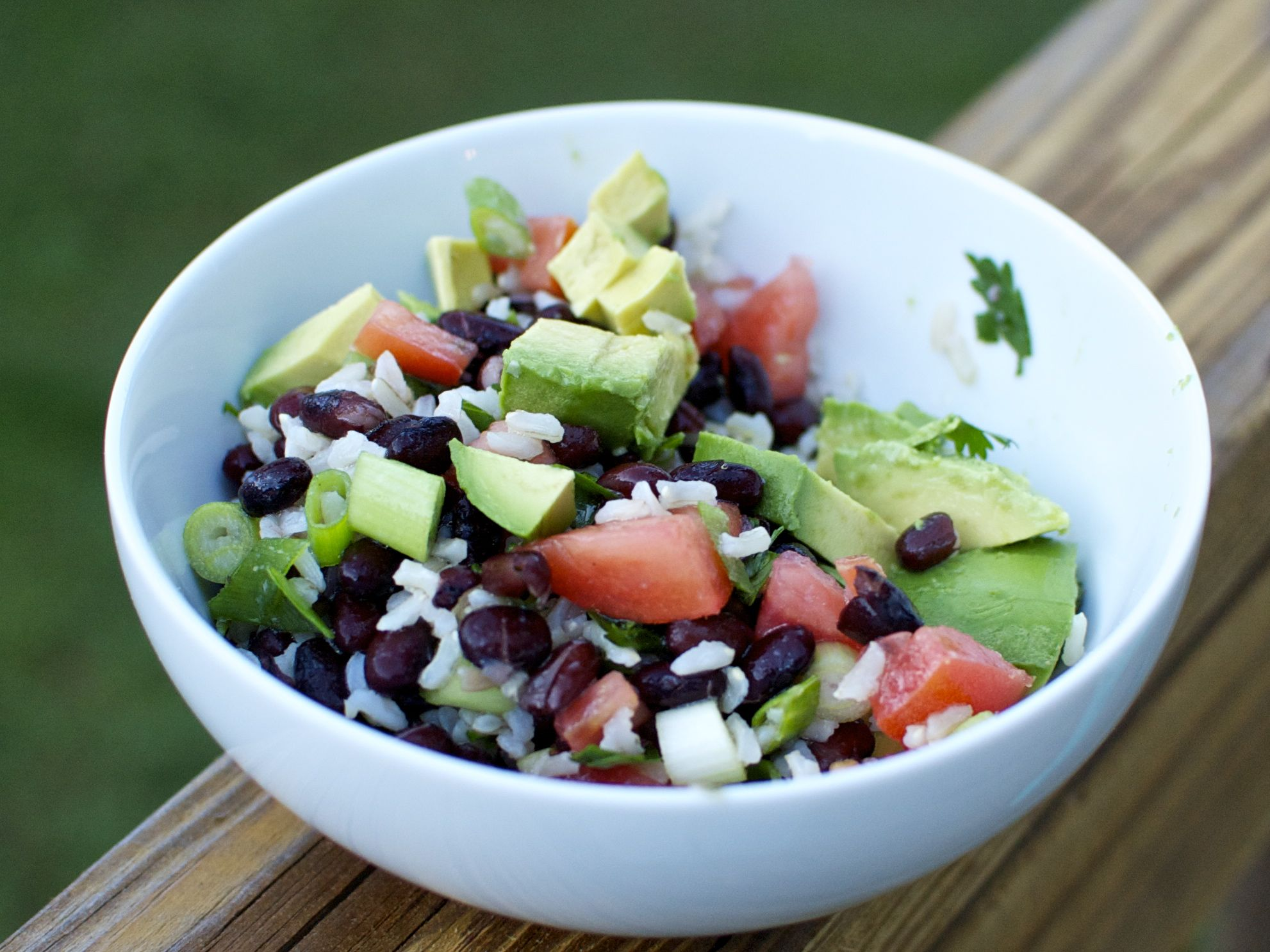 pinto bean salad recipe with avocado tomatoes red onion and pinto bean ...