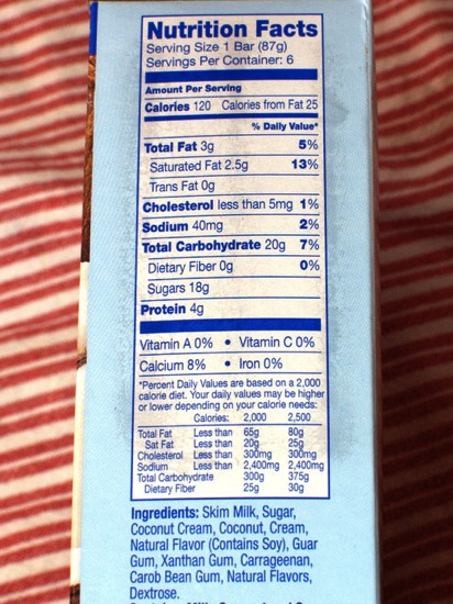 outshine fruit bars nutrition facts healthy fruit ice cream
