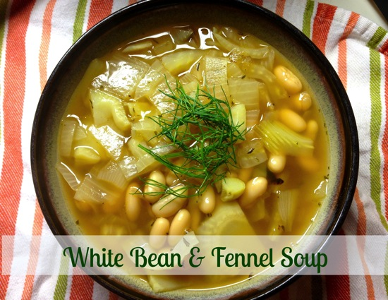 White Bean & Fennel Soup - A Foodie Stays Fit