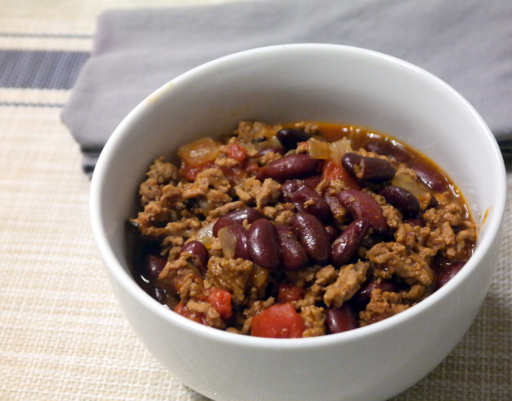 Simple Beef CrockPot Chili