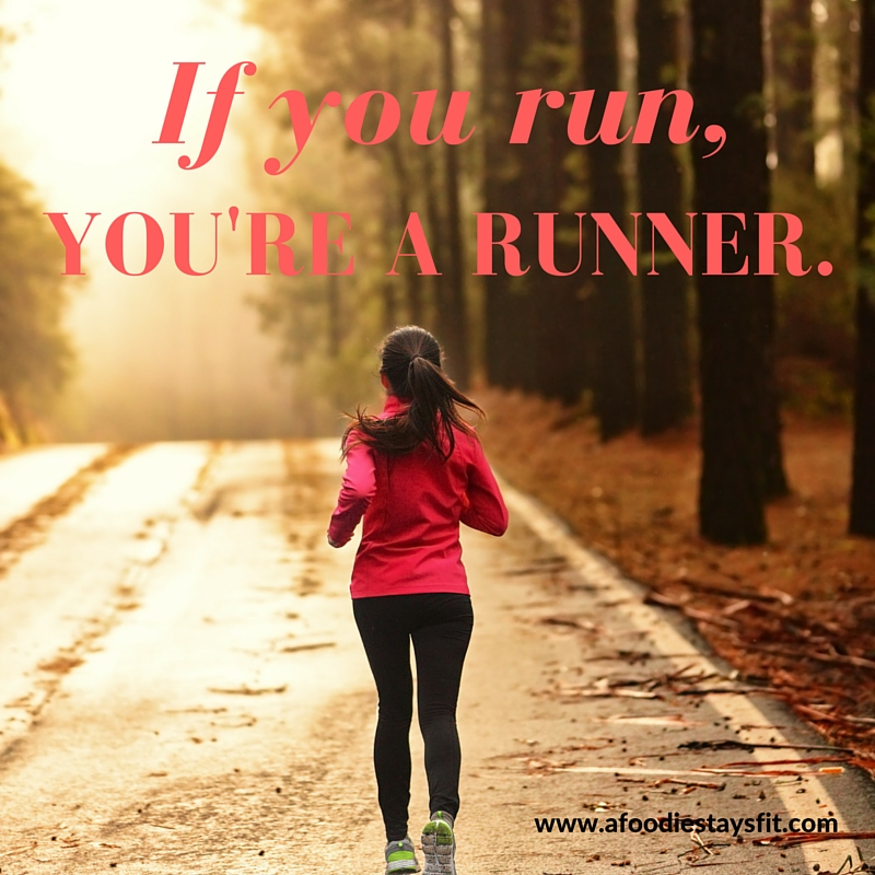 If you run, you're a runner. (1)