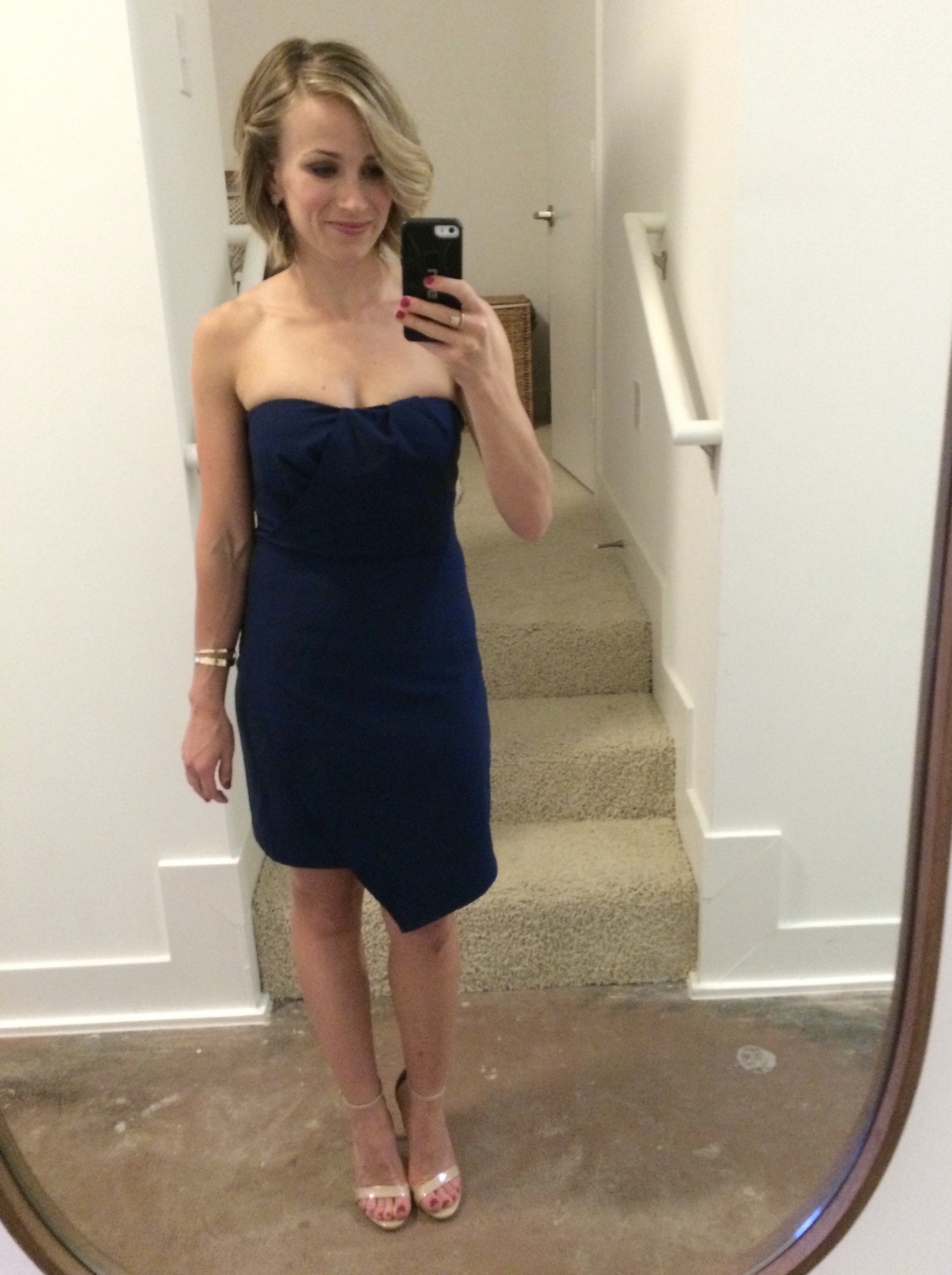 adelyn rae strapless dress