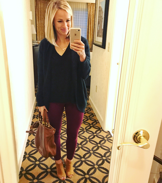 burgundy pants for work