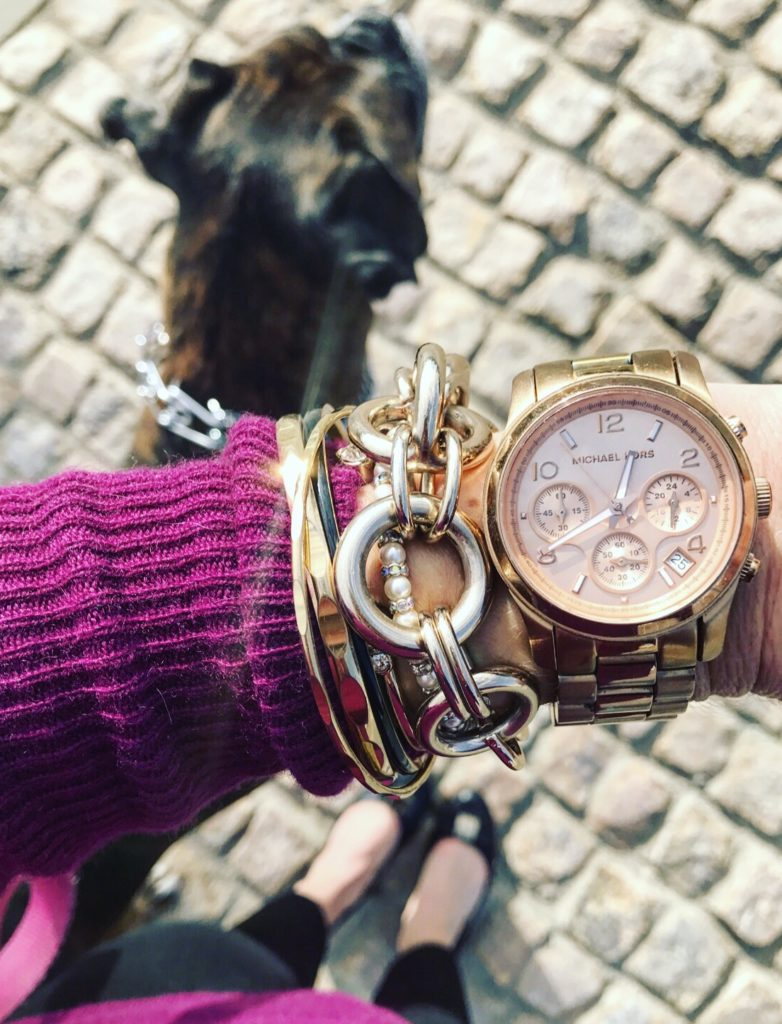 how to stack bracelets with a watch