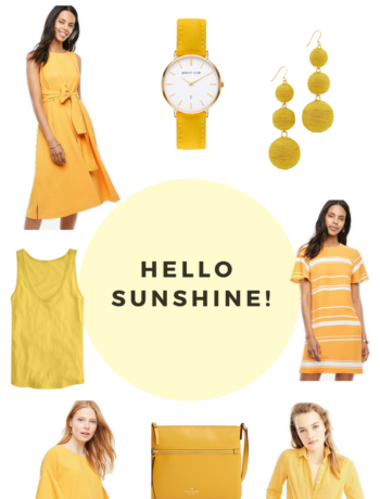 yellow summer outfits